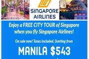 SINGAPORE AIRLINE TO MANILA