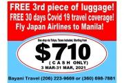 $710 JAPAN MNL PROMO!