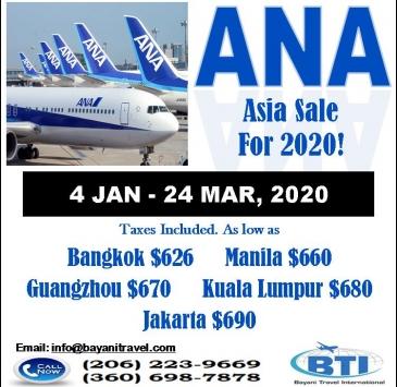 ANA SALE TO ASIA